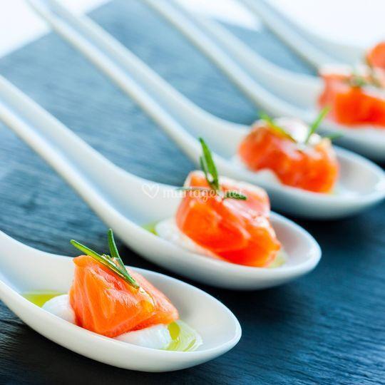 Cuillère saumon cocktails