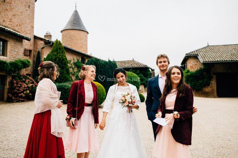 Robe rose pâle/haut velours