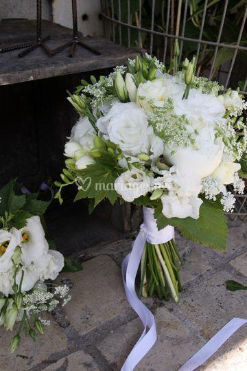 Bouquet mariée blanc vert