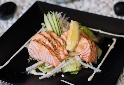 Tataki de saumon brûlé