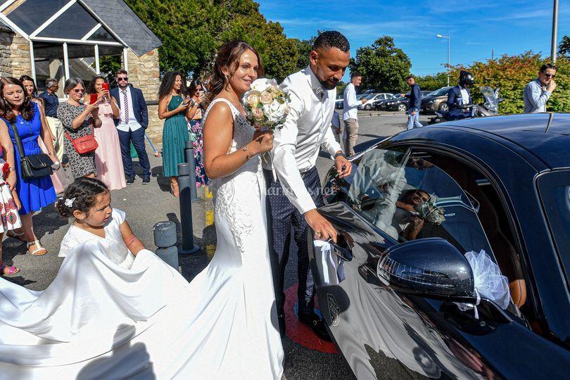 Départ des mariés