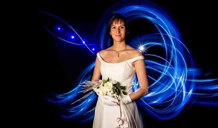 Mariée lightpainting