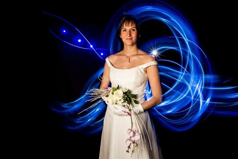 Mariée lightpainting