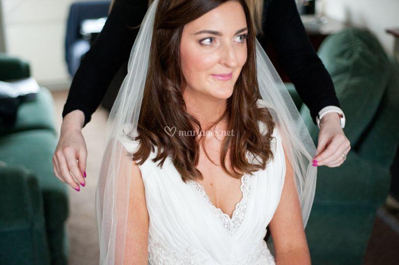 Préparation chez la mariée