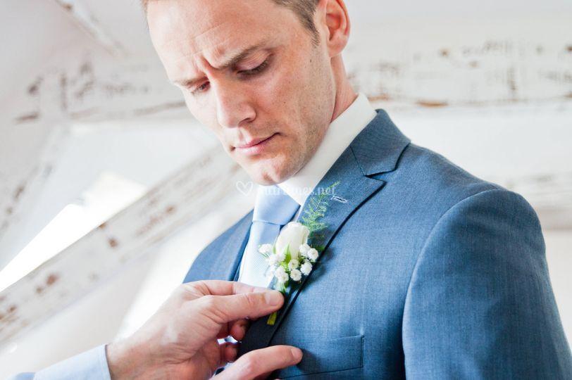 Préparation chez le marié
