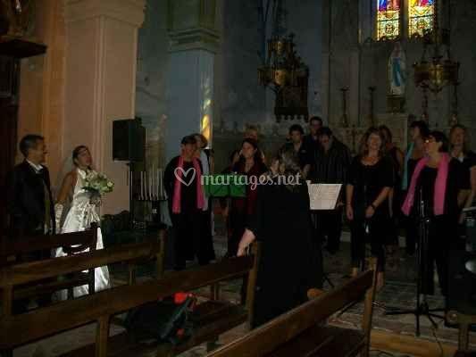 Exemple d'un mariage en église