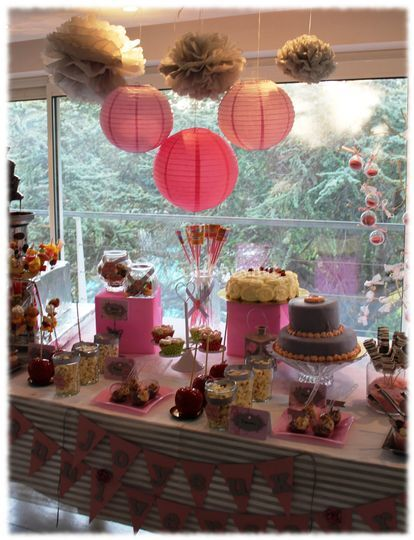 Sweet Table Theme Rose et Gris