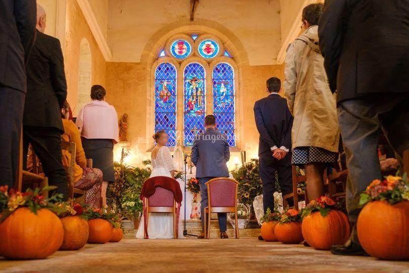 Eglise Décoration Automne