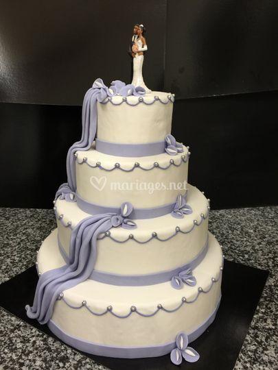 Wedding cake pastel