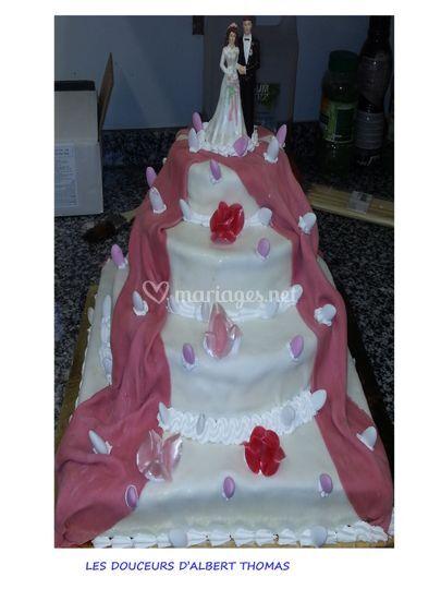 Cake rond carré