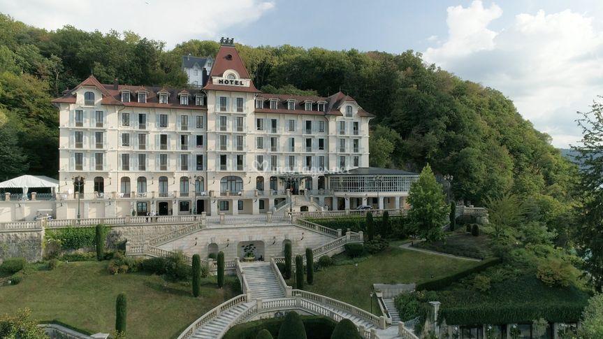 Le Palace de Menthon, drone