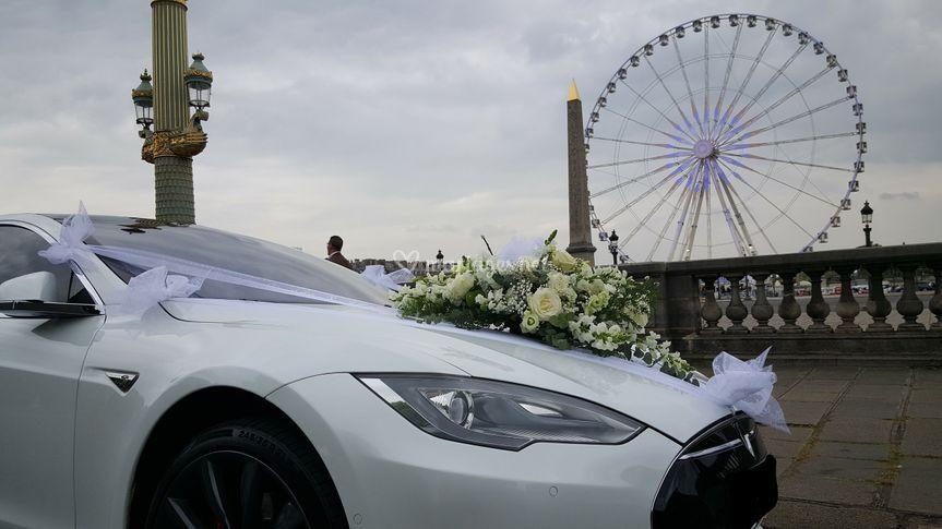 Tesla Model S Blanche