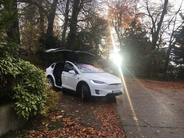 Tesla Model X sans décoration