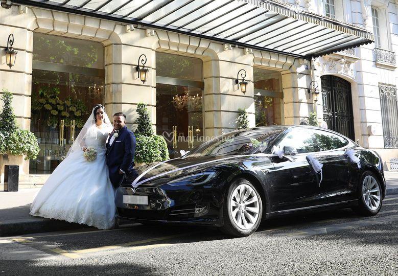 Model S noire+mariés