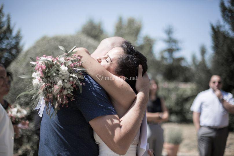 La mariée et son frère