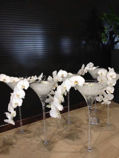 Vases martini 70cm