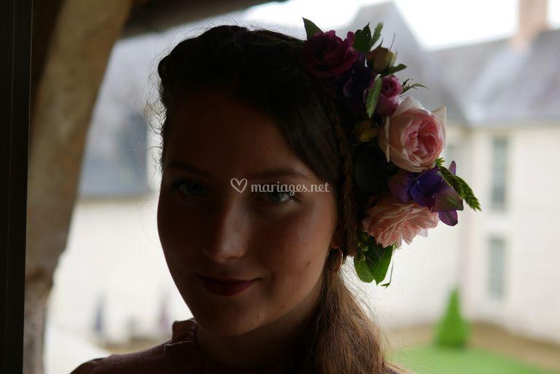 Couronne de fleurs romantiques