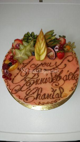 Fraisier Gâteau d'anniversaire