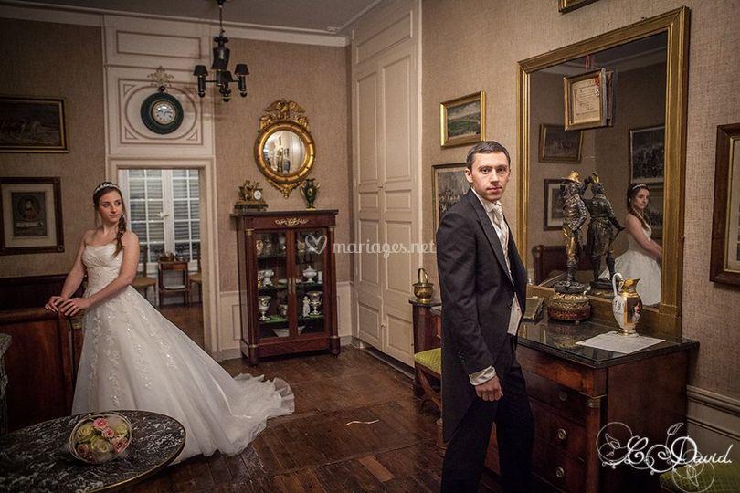 Les mariés au petit salon
