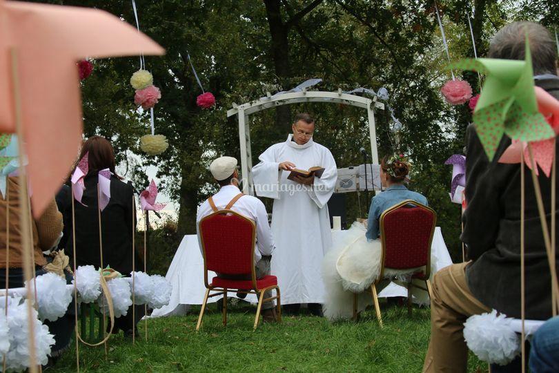 Une cérémonie champêtre