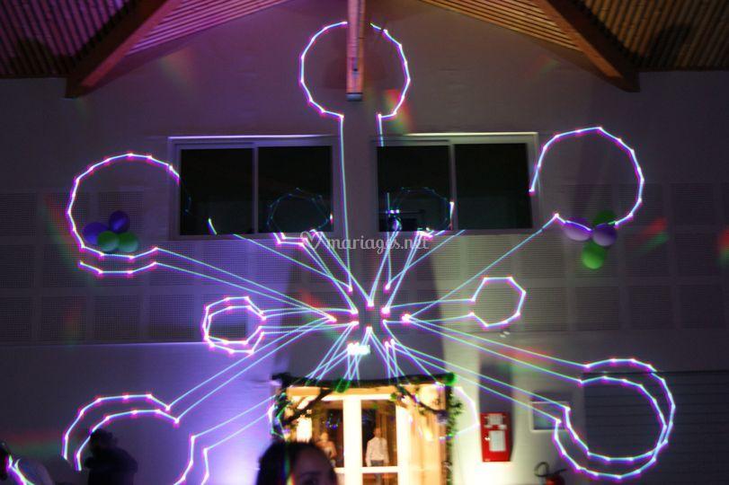 Laser 3D 2000mW 7 couleurs