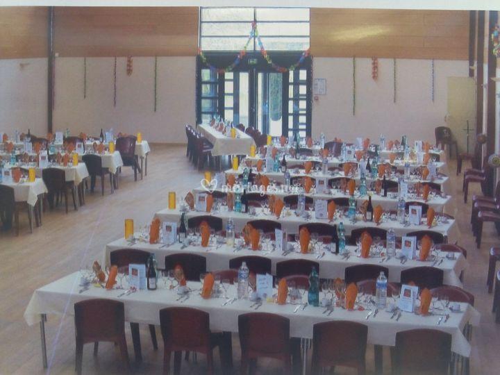 Salle réception décorée Savonière