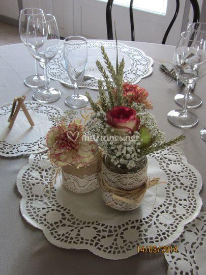 Centre table romantique