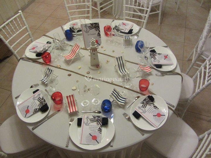 Table thème marin