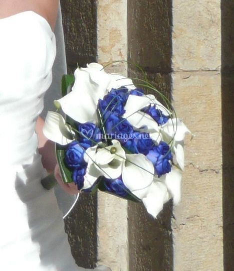 Bouquet rond  in blue