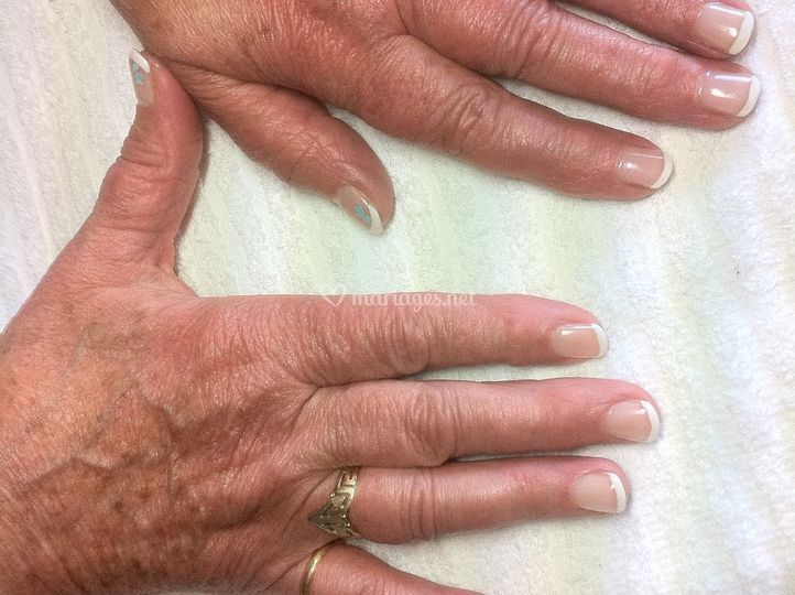 French sur ongles naturels