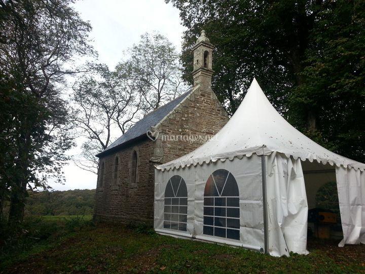 Chapelle avec barnum