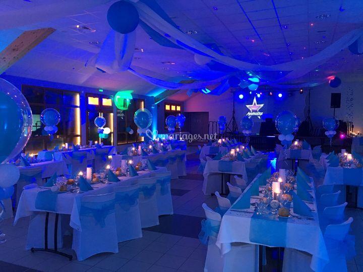 Décoration LED salle
