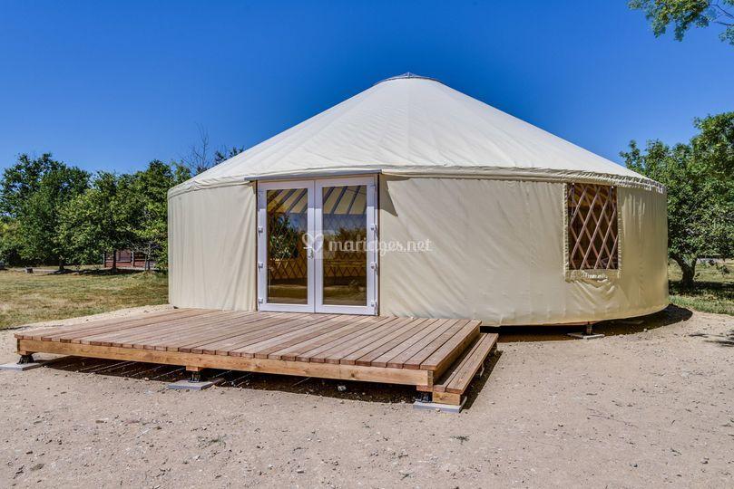 Une yourte de 100 m²