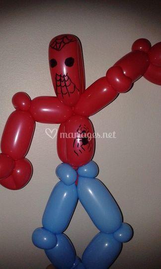 Sculpture spiderman