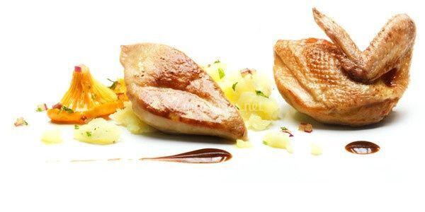 Filet de caille au foie gras