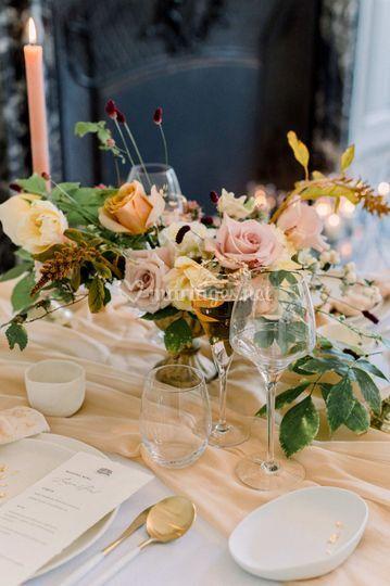 Composition florale table