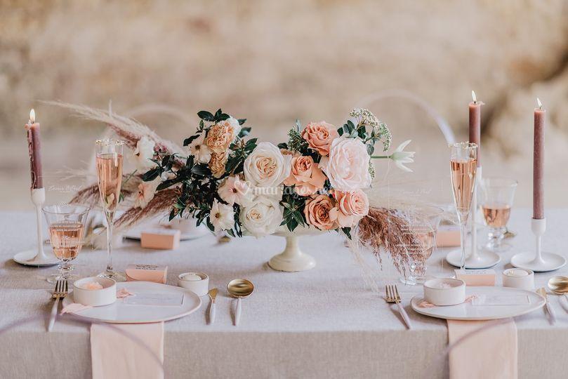 Composition florale mariage