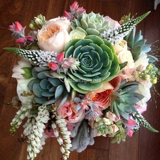 Bouquet de Mariée Succulentes
