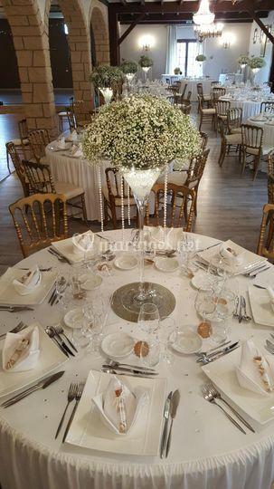 Centre de table vase à martini