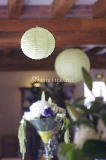 Boules chinoises vert menthe