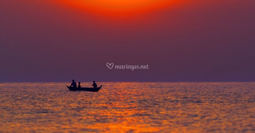 Coucher de soleil au Cambodge