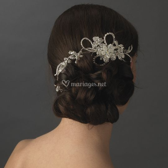 "Coiffe de mariée ""wrap around"""