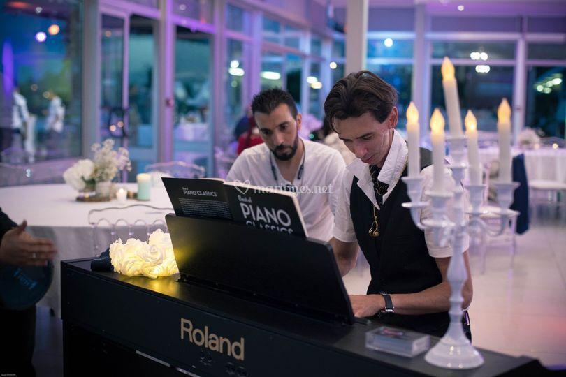 Piano durant le cocktail