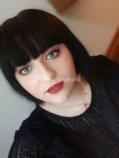 Makeup maronné prune lumineux
