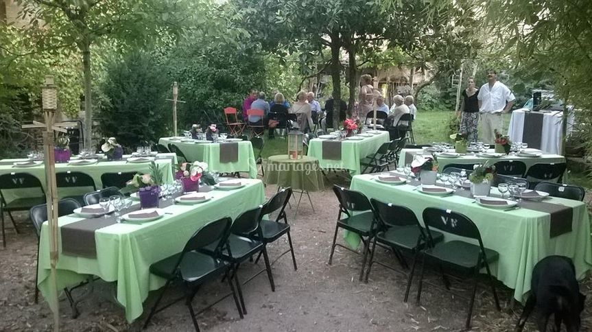 Décorations de tables sur Au Rocher Fleuri