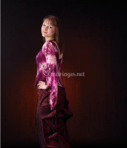 En robe de soirée