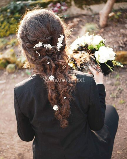 Shoot photo, coiffure long