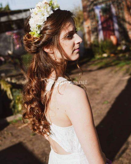 Coiffure boucles cheveux long