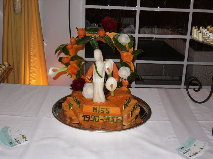 Arche fleuri de la mariée