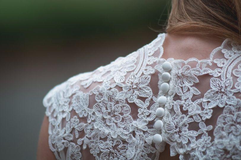 Détail robe de mariée